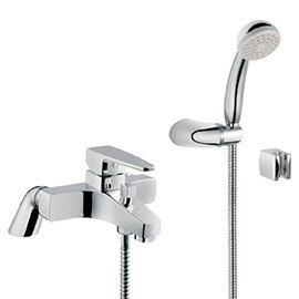 Vitra - Q-Line Bath Shower Mixer with Kit - Chrome - 40783