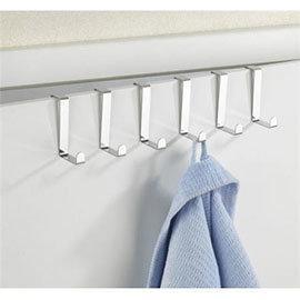 Wenko Set of 6 Stainless Steel Door Hooks - 4214062100