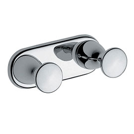 Vitra - Arkitekta Double Robe Hook - Chrome - 44081