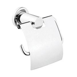 Vitra - Ilia Toilet Roll Holder with Cover - Chrome - 44390