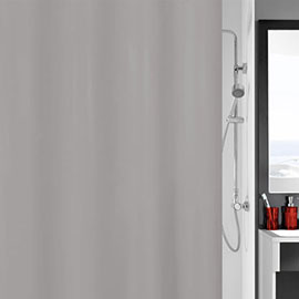 Kleine Wolke Kito Polyester Shower Curtain - W1800 x H2000 - Grey - 4937-905-305