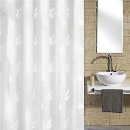 Kleine Wolke - Canton Polyester Shower Curtain - W1800 x H2000 - White