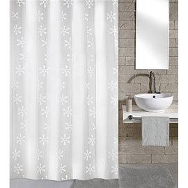 Kleine Wolke - Viva PEVA Shower Curtain - W1800 x H2000 - White - 4997-114-305