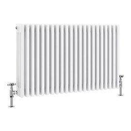 Keswick 600 x 988mm Cast Iron Style Traditional 4 Column White Radiator