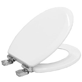 Bemis Chicago Soft Close Toilet Seat with Chrome Hinges