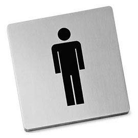 Zack Indici Information Sign - Stainless Steel - Man - 50713