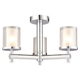 Endon Britton Semi-Flush Bathroom Ceiling Light Fitting