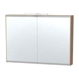 Miller - London 100 Mirror Cabinet - Oak - 55-5