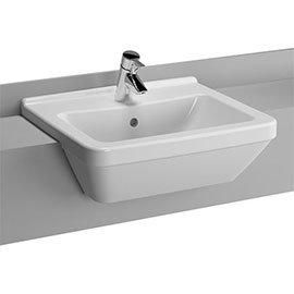 Vitra - S50 Square Semi-Recessed Basin - 1 Tap Hole