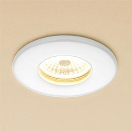 HIB Infuse White Fire Rated LED Shower light - Warm White - 5920
