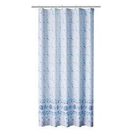Aqualona Mosaic Blue Polyester Shower Curtain - W1800 x H1800mm - 76798