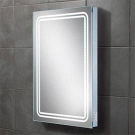 HIB Rotary LED Mirror with Charging Socket - 77416000