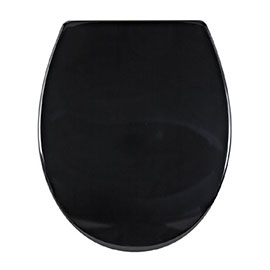 Aqualona Duroplast Soft Close Toilet Seat with Quick Release - Black - 77504