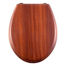 Aqualona Antique Pine Wooden MDF Toilet Seat - 77580