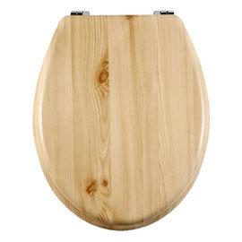 Aqualona Natural Wooden MDF Toilet Seat - 77597