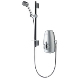 Aqualisa - Aquastream Thermo Power Shower with Adjustable Head - Satin Chrome - 813.40.01