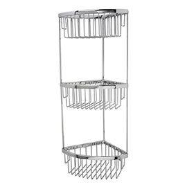 Miller - Classic 3-Tier Corner Shower Basket - 875C