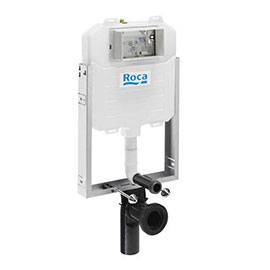 Roca Basic WC Compact Concealed Frame with Compact Cistern + Dual Flush