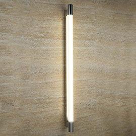 Searchlight Poplar 100cm Chrome T5 Oblong Wall Light with Tubular White Glass - 9021CC