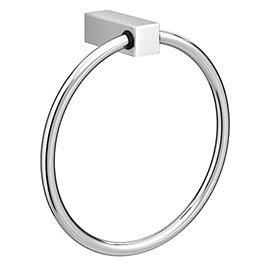 Vela Round Towel Ring - Chrome