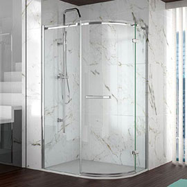 Merlyn 8 Series 1200 x 800mm Frameless 1 Door Offset Quadrant Enclosure