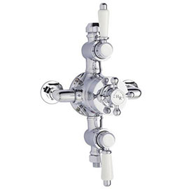 Hudson Reed Traditional Triple Exposed Thermostatic Shower Valve - A3089E