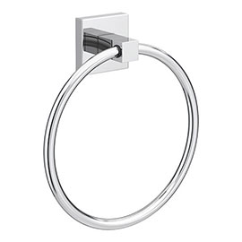 Milan Wall Mounted Towel Ring - Chrome