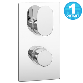 Amos Concealed Thermostatic Twin Shower Valve - Chrome
