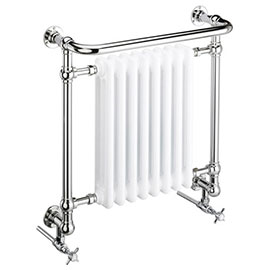 Heritage - Clifton Wall Mounted Heated Towel Rail with Crosshead Valves - AHC101