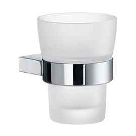 Smedbo Air Holder with Frosted Glass Tumbler - Polished Chrome - AK343