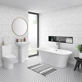 Alps Modern Free Standing Bathroom Suite