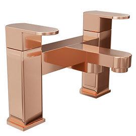 Amos Rose Gold Modern Bath Filler
