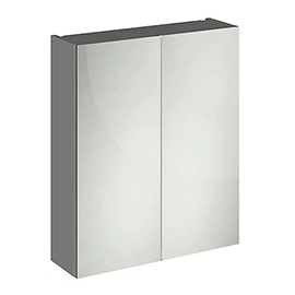 Apollo2 600mm Gloss Grey 50/50 Mirror Unit