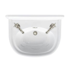 Arcade 500mm Cloakroom Basin Two Tap Hole with Overflow