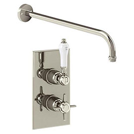 Arcade Trent Single Outlet Concealed Shower Valve with Fixed Shower Arm - Nickel - ARC73