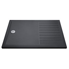 Aurora 1700 x 800 Slate Effect Walk In Shower Tray With Drying Area