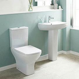 Nuie Ava 4-Piece Short Projection Bathroom Suite