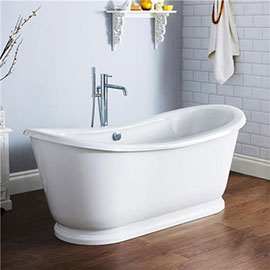 Nuie Alice 1750 Double Ended Roll Top Slipper Bath with Skirt