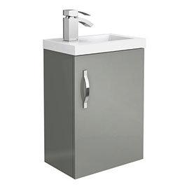 Apollo2 405mm Gloss Grey Compact Wall Hung Vanity Unit