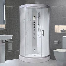 AquaLusso - Alto 90 - 900 x 900mm Quadrant Steam Shower - Polar White