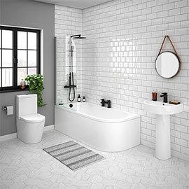 Arezzo Modern 1700 Shower Bath Suite