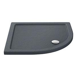 Aurora Slate Effect Stone Quadrant Shower Tray