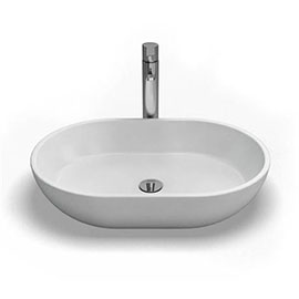 Clearwater - Formoso Bacino Natural Stone Countertop Basin - W590 x D390mm - B1A