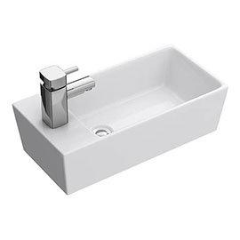 Nuie Compact Rectangular Counter Top Ceramic Basin - BAS002