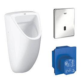 Grohe Bau Ceramic Urinal + Automatic Infra-Red Sensor Flush + Rough-In Box