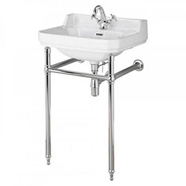 Bayswater Fitzroy 1TH Basin & Chrome Wash Stand