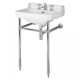Bayswater Fitzroy 560mm 3TH Basin & Chrome Wash Stand