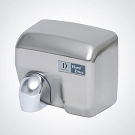 Dolphin - Surface Mounted Automatic Hot Air Hand Dryer - Chrome - BC2400MA