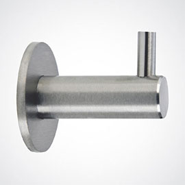 Dolphin - Washroom Round Stainless Steel Coat Hook - BC402