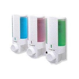 Dolphin - Single Plastic Shower Dispenser - White - BC624-1W
